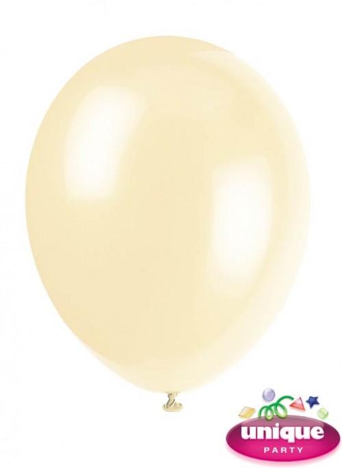 """12"""" Ivory Cream - Helium Quality Balloon 10 CT."""