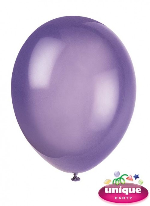 "12"" Midnight Purple Crystal - Helium Quality Balloon 10 CT."