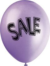 """SALE 12"""" Latex Helium Fill Balloon - Pearlized Assorted Colours, Printed All Around - 5ct"""