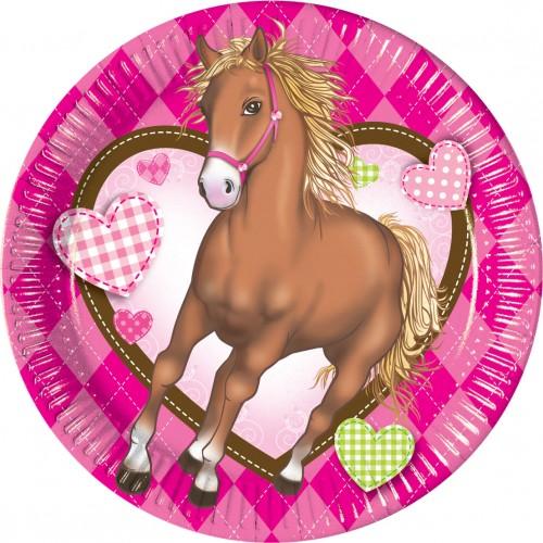 Horses Paper Plates 20cm 10CT