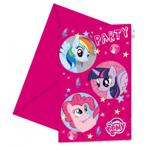 My Little Pony Sparkle Invitations & Envelopes 6ct