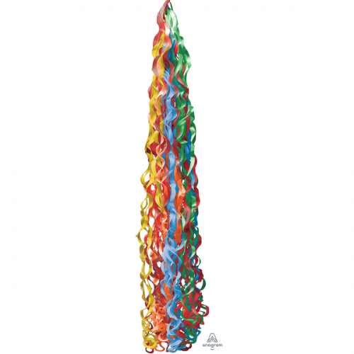 "Primary Colours Twirlz Medium Balloon Tail - 34"" x 6"""
