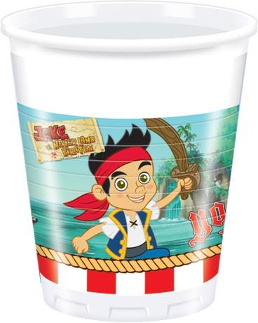 Jake Yo Ho Plastic Cups 200ml 8CT.