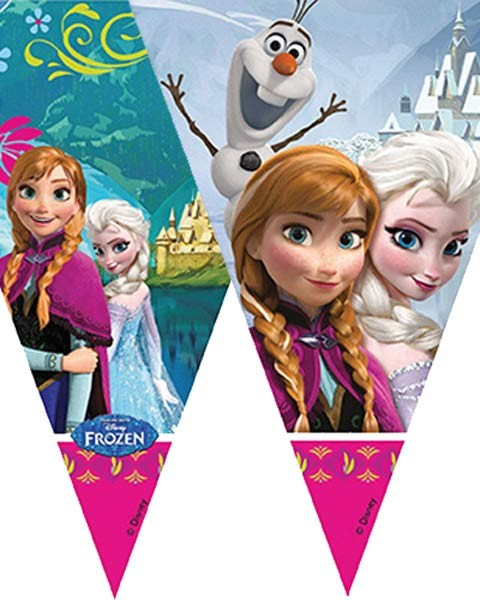 Frozen 2m Plastic Triangle Flag Banner