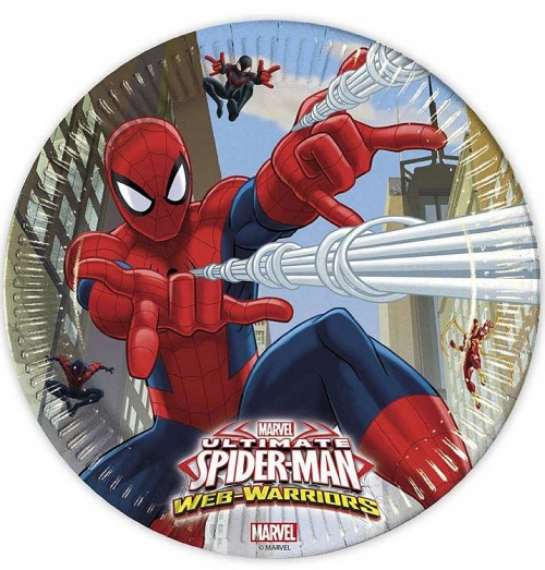23cm Paper Plate - Ultimate Spider Man Web Warriors