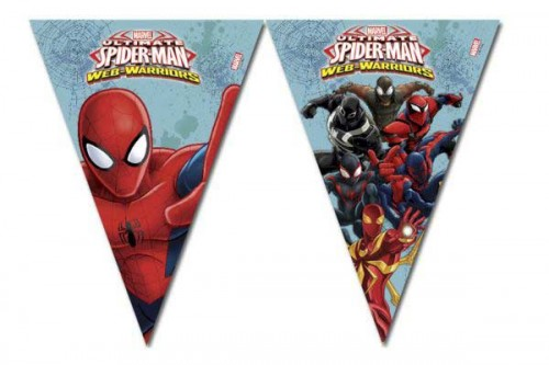 Triangle Flag Banner (9 Flags) - Ultimate Spider Man Web Warriors
