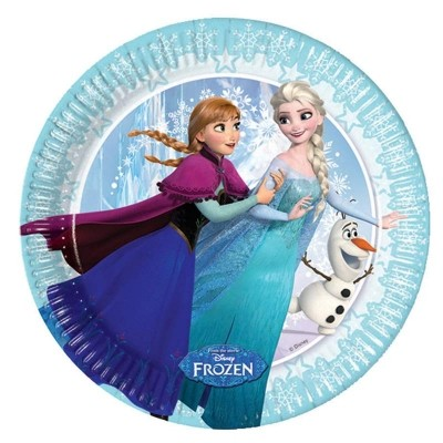 Frozen Ice Skating Paper Plates Small 20cm 8CT.