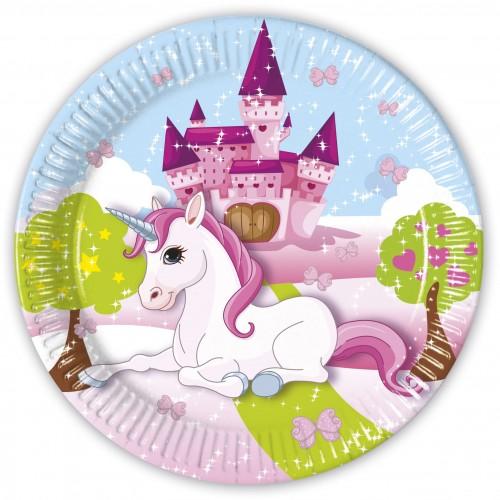 Unicorn Paper Plate 23cm