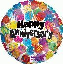 "Happy Anniversary - 18"" foil balloon"