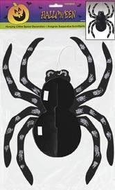 """Glitter Spider Hanging Decoration 14""""H"""