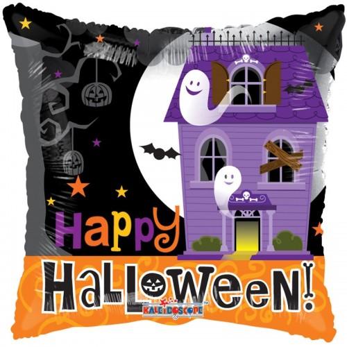 """Halloween Haunted House Pillow Balloon 18"""" Foil Balloon"""