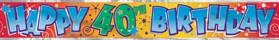 Happy 40th Birthday - Banner