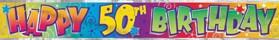 Happy 50th Birthday - Banner