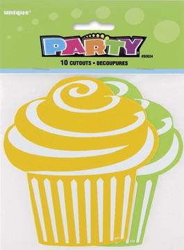 Mini Cupcake Cutouts - Green