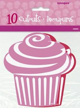 Mini Cupcake Cutouts - Red/Pink