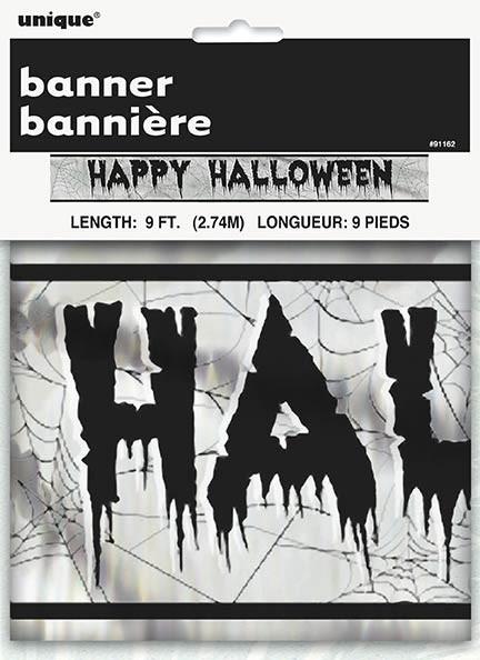 Happy Halloween Foil Banner 9 Ft.