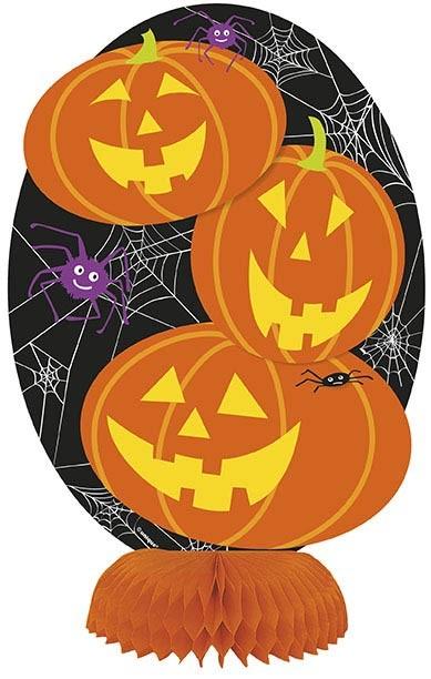 Pumpkin Honeycomb Decorations 4ct