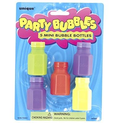 5 Mini Bubble Bottles