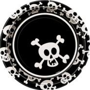 Skulls 9'' Plates 8CT