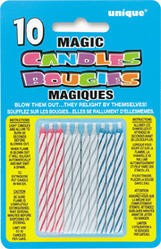 Magic Birthday Candles Multi (10ct) - Pack of 12