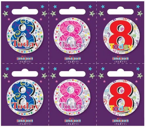 Age 8 Small Badges (5.5cm)