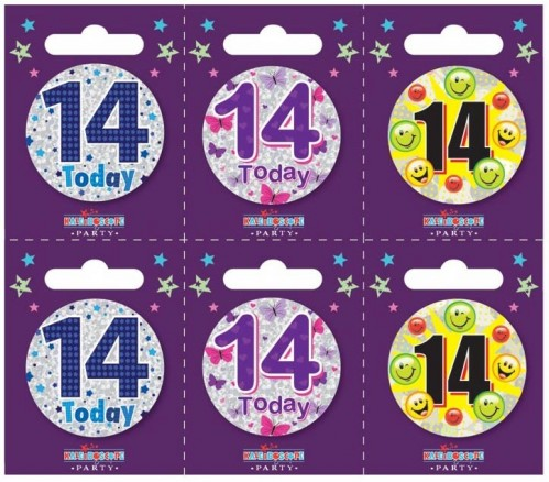 Age 14 Small Badges (5.5cm)