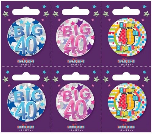 Age 40 Small Badges (5.5cm)
