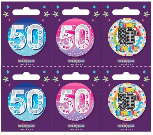 Age 50 Small Badges (5.5cm)