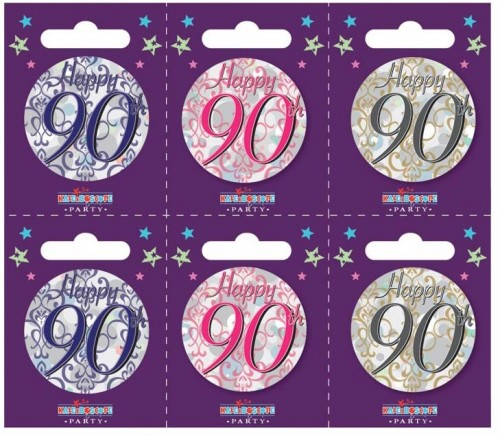 Age 90 Small Badges (5.5cm)