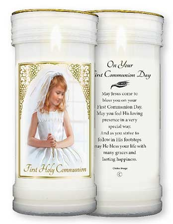 Pillar Candle - First Holy Communion - Girl - Pack of 4