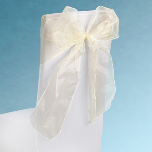 Snow Sheer Chair Tie 230mm x 3M Ivory