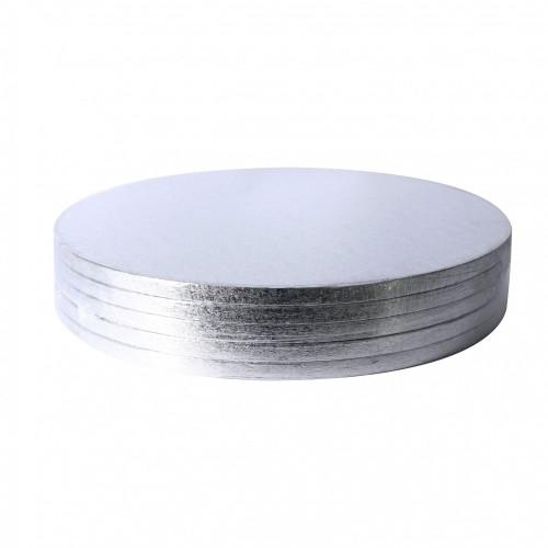 Sliver Round Cake Drums1/2 inch x 14inch 5 Units