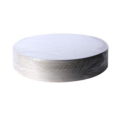 "Round Silver 12"" Cut Edge Cake Board 50 Units"
