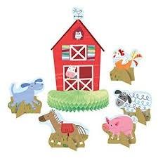 Farm Party Centerpiece Decoration Assorted Designs 6ct