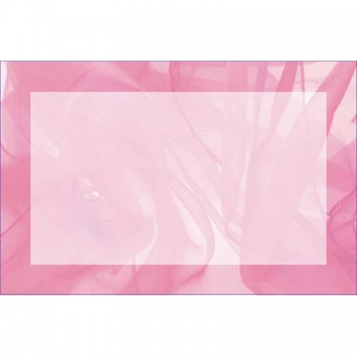 Pink Chiffon Border (No Message) (Pack of 50)