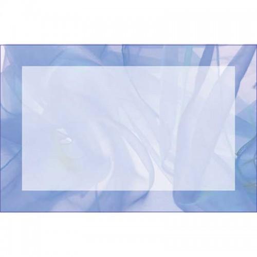 Blue Chiffon Border (No Message) (Pack of 50)