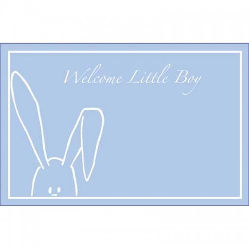 Welcome Little Boy Peekaboo Bunny Blue (Pack of 50)