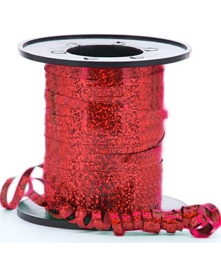 Red Holographic Curling Ribbon 5mm x 250m