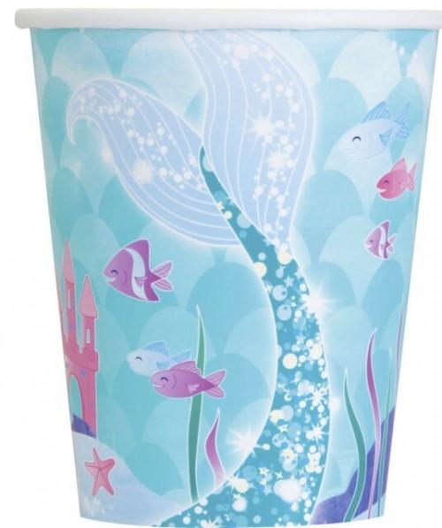 Mermaid 9oz cups 8ct