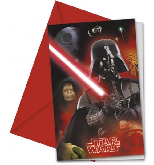 Star Wars Heroes Invitation & Envelopes 6CT.