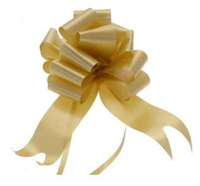 Gold Pull Bow 50mm - Pack of 20