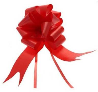 Red Pull Bow 50mm - Pack of 20