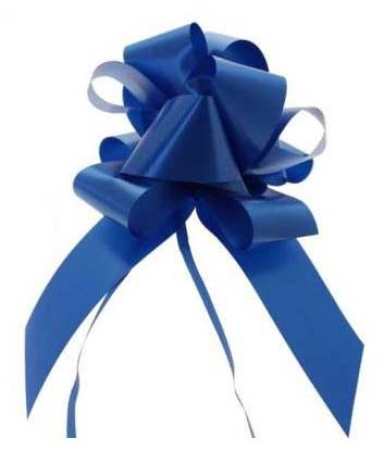 Royal Blue Pull Bow 50mm - Pack of 20