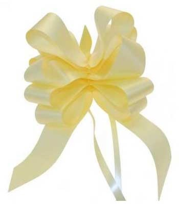 Light Yellow Pull Bow 50mm - Pack of 20