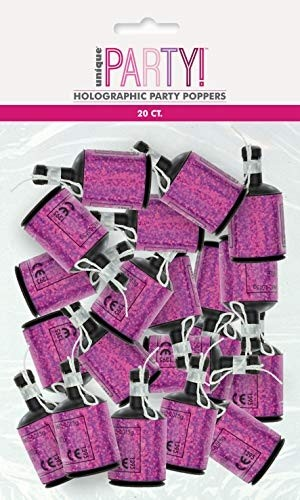 Pink/Silver Glitz Foil Holographic Poppers 20ct