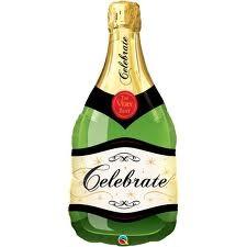 Champagne Bottle 39'' Supershape foil