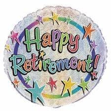 "Happy Retirement 18"" foil Balloon"