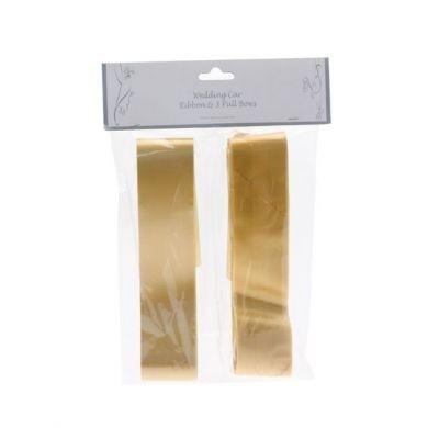 Gold Wedding Car Ribbon & 3 Bows