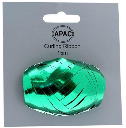 Metallic Green Ribbon Cop on Header 15m