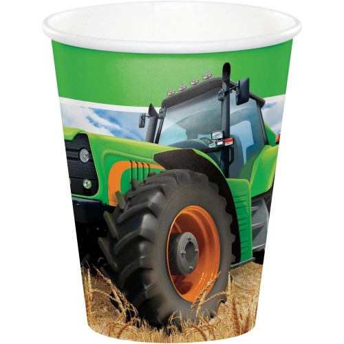 Tractor Time 9oz Cups 8Ct